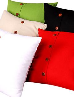 linge couverture solide coussin de couleur (fermeture en bas)