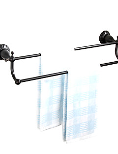 """Towel Bar Oil Rubbed Bronze Wall Mounted 600 x 140 x 100mm (23.6 x 5.51 x 3.93"""") Brass Antique"""