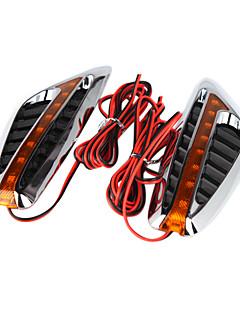 2 kpl auton ohjauspyörän led valo virtaviivainen härkä sarvi suunnittelu