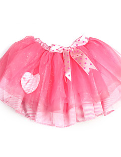 Shining Pink Ribbon Tulle Girl Skirt With Lining