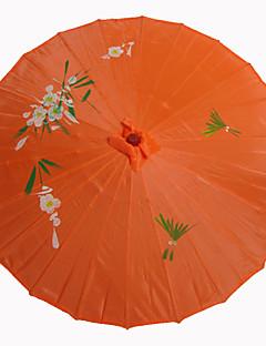 Parasols(Doré)Thème de jardin / Thème asiatique- enBambou- etSoie Printemps / Eté Hauteur : 48cm   Diamètre : 82cm 48cm de haut