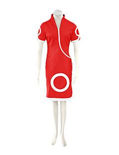 קיבל השראה מ Naruto Sakura Haruno אנימה תחפושות קוספליי חליפות קוספליי / שמלות דפוס אדום קצר Cheongsam / מכנסיים קצרים
