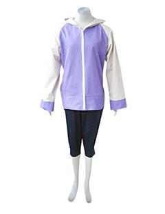 Zainspirowany przez Naruto Hinata Hyuga Anime Kostiumy cosplay Garnitury cosplay Patchwork Fioletowy Długi rękaw Płaszcz Spodnie Na