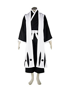 Inspired by Cosplay BLEACH Hitsugaya Toushirou  AnimeCostumes  Suits / Kimono Patchwork White Long SleeveKimono Coat / Vest / Hakama pants /