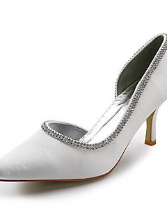 damskor spetsig tå stelitto häl satin pumpar bröllop skor fler färger tillgängliga