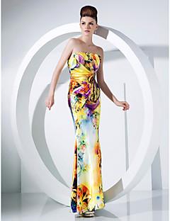 Prom/Military Ball/Formal Evening Dress Trumpet/Mermaid Strapless Floor-length Charmeuse