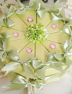 Våren grønn kake favør boks (sett av 10)