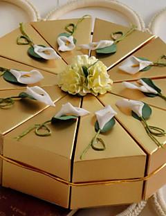 10 Darab / készlet Favor Holder-Piramis Gyöngy-papír Ajándék dobozok