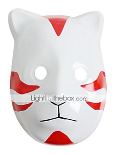 Mask Inspired by Naruto Cosplay Anime Cosplay Accessories Mask White / Red PVC Male / Female