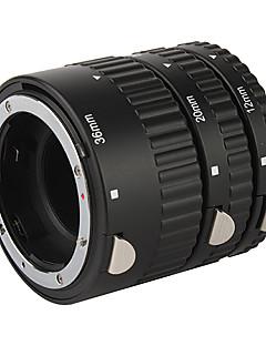 høj kvalitet, 3-delt makro forlængerrør indstillet til Nikon D-SLR - sort