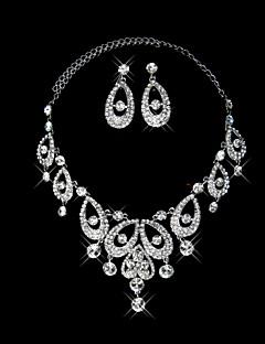 Sieraden set Dames Jublieum / Bruiloft / Verloving / Verjaardag / Geschenk / Feest / Dagelijks Sieraden Sets Licht Metaal Bergkristal