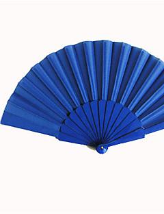 koninklijke blauwe zijde de hand fans (set van 6)