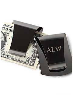 Marié / Groom Cadeaux Piece / Set Pince à billets Classique Mariage / Célébration / Anniversaire Inox Personnalisé Pince à billets Noir