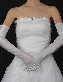 Opera Length Fingertips Glove - Satin Bridal Gloves