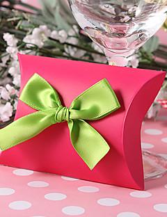 12 Darab / készlet Favor Holder-Párna Kártyapapír Ajándék dobozok