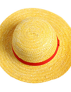 Hat/Cap Inspirirana One Piece Monkey D. Luffy Anime Cosplay Pribor Kratki / Šešir Žuta Straw Rope Male