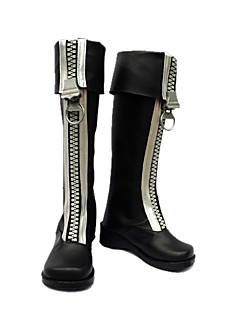 Cosplay Shoes Inspired by D.Gray-man-Allen White Zipper Brown