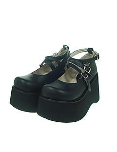 Lolita Shoes Gothic Lolita Lolita Platform Shoes Solid 10 CM For PU Leather/Polyurethane Leather Polyurethane Leather