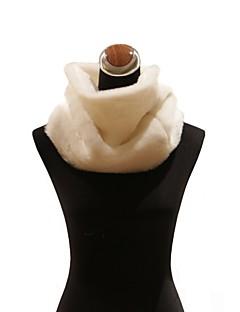 elegant faux kaninpels spesiell anledning skjerf / sjal (flere farger)
