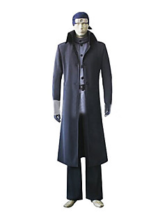 Inspired by Naruto Ibiki Morino Anime Cosplay Costumes Cosplay Suits Solid Black Long Sleeve Cloak / Coat / Pants / Belt