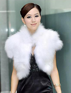 Fur Vest With Sleeveless Standing Collar Party In Faux Fur  (More Colors)