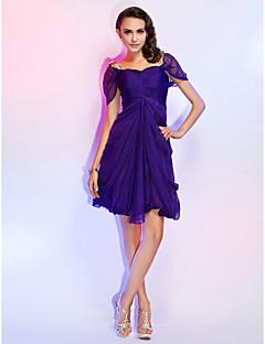 A-line Square Short/Mini Chiffon Cocktail Dress