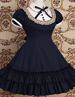 Short Sleeve Knielanger Cotton Schule Lolita Kleid