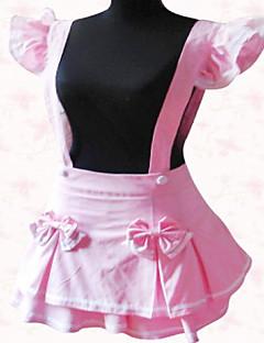 Mini Pink Terylene Sweet Lolita Suspender Skirt with Bow