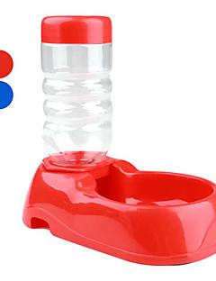 Kat Hund Skåle & Vandflasker Kæledyr Skåle & Fodring Bærbar Rød Blå Plastik