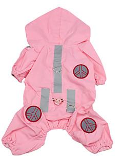 pejsky Pláštěnka Růžová Oblečení pro psy Léto Jaro/podzim Jednobarevné Voděodolný
