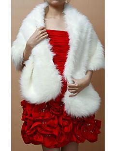 ファーショール・ボレロ / 結婚式のラップ ショール ノースリーブ フェイクファー 画像参照 結婚式 / パーティー クラスプ