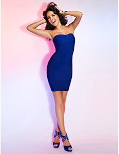 TS Couture® Cocktail Party / Holiday Dress - Royal Blue Petite Sheath/Column Sweetheart Short/Mini Rayon