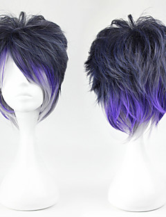 Cosplay Wigs Cosplay Sakamaki Renji Purple Short Anime/ Video Games Cosplay Wigs 32 CM Heat Resistant Fiber Male