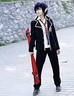 Zainspirowany przez Blue Exorcist Rin Okumura Anime Kostiumy cosplay Garnitury cosplay / Mundurki szkolne Jendolity kolor ČernáDługi