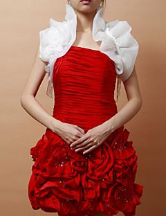 민소매 새틴 특별한 날 저녁 재킷 / 결혼식 랩 (더 색) 볼레로 어깨를 으쓱