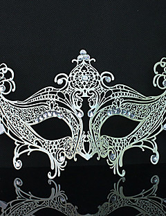 Luxury Embedded Diamond Metal Costumes Mask