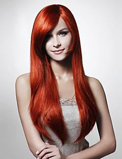 Capless mode färg Silky Straight hår peruk flera färger