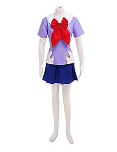 Inspired by The Future Diary Gasai Yuno Anime Cosplay Costumes Cosplay Suits / School Uniforms Patchwork Blue / Purple Short SleeveTop /