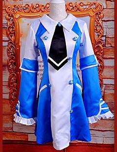 Inspirovaný Pandora Hearts Echo Anime Cosplay kostýmy Cosplay šaty / Šaty Patchwork Niebieski Bez rukávů K šatům