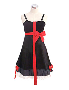 Inspired by Guilty Crown Inori Yuzuriha Anime Cosplay Costumes Cosplay Suits / Dresses Patchwork Black / Red Sleeveless Dress