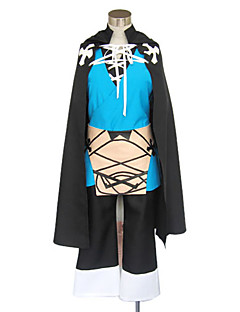 Inspired by Beyond the Boundary Konoe Video Game Cosplay Costumes Cosplay Suits / Kimono Patchwork Black / Blue Long SleeveCloak / Vest /