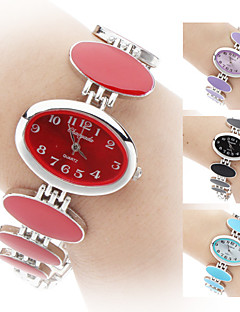 女性用 ファッションウォッチ ブレスレットウォッチ クォーツ バンド エレガント腕時計 ブラック 白 レッド ピンク パープル