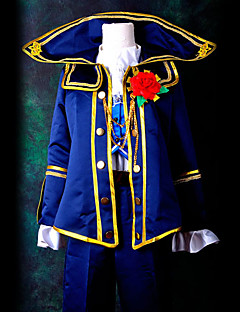 Inspired by Vocaloid Kaito Video Game Cosplay Costumes Cosplay Suits Patchwork Blue Top