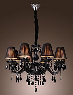 Lámpara Chandelier de Cristal con 8 Bombillas - NORFOLK