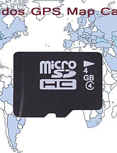 cartão elogios gps mapa, com cartão de 4GB tf