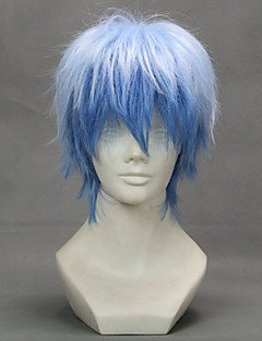 Cosplay Wigs Cosplay Kuroko Tetsuya Blue Short Anime Cosplay Wigs 32 CM Heat Resistant Fiber Female