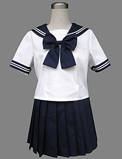 Cosplay Costumes Party Costume Student/School Uniform Sailor/Navy Career Costumes Festival/Holiday Halloween Costumes Ink Blue Patchwork