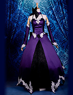 Inspired by Fate/Zero Saber Lily Video Game Cosplay Costumes Cosplay Suits Patchwork Black Top