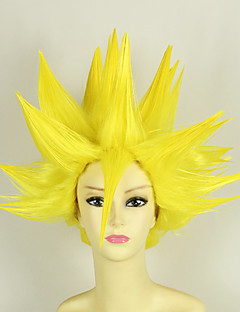 Cosplay Wigs Dragon Ball Vegeta Yellow Short Anime Cosplay Wigs 35 CM Heat Resistant Fiber Male