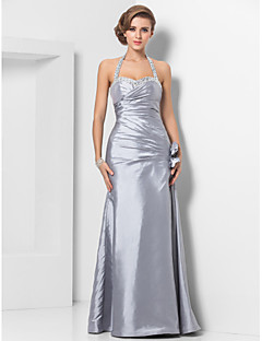 Formal Evening/Military Ball Dress - Silver Plus Sizes Sheath/Column Halter/Sweetheart Floor-length Taffeta